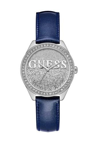 Guess Watch blue Guess Jam Tangan Wanita - Blue Silver - Leather Strap - W0823L13 6884CACE3A7225GS_1