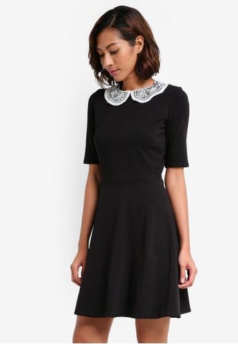 Dorothy Perkins black Lace Collar Dress 662F9AAAEB39F3GS_1