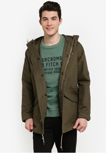 Abercrombie & Fitch green Parka Jacket AB423AA0RCS6MY_1