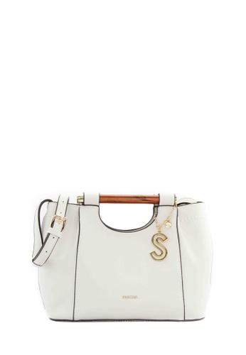 SEMBONIA white SEMBONIA Synthetic Leather Satchel Bag (White) 58816ACBD601C8GS_1