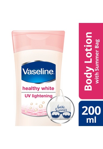 Vaseline n/a Vaseline Lotion Healthy White 200Ml With Free Summer Bag E8D8EBE5758B46GS_1