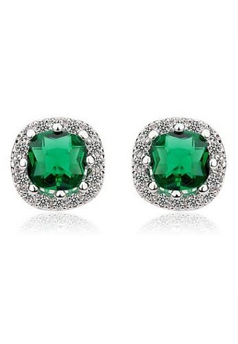 Vivere Rosse green Duchess Stud Earrings VI014AC76LJJMY_1