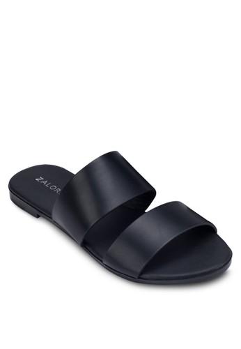 金屬感雙帶拖鞋zalora taiwan 時尚購物網鞋子, 女鞋, 鞋
