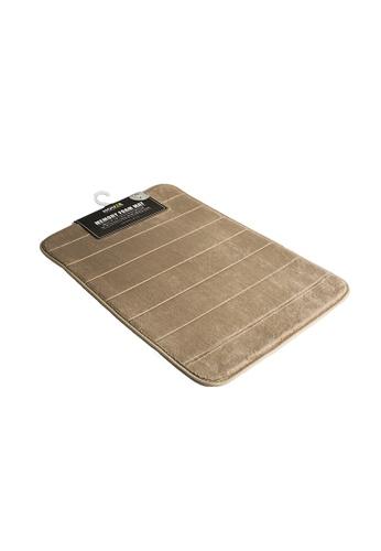 HOUZE HOUZE - Memory Foam Mat (Dim: 60x40x1.2cm) Khaki Color 17EDDHL9EB252DGS_1