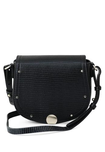 PIMKIE black Saddle Crossbody Bag B7E5EAC1845705GS_1
