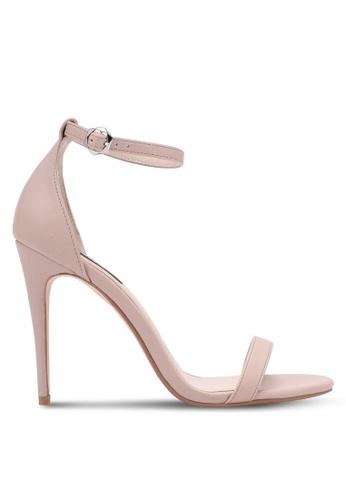 ZALORA beige Classic Ankle Strap Heels 1F27DSH6343270GS_1