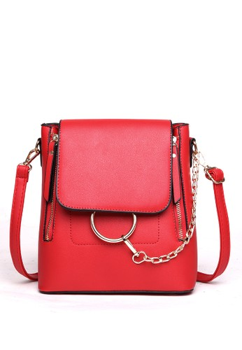 Scada red Roundo Backpack - Red 9D5CFAC16CC6B9GS_1
