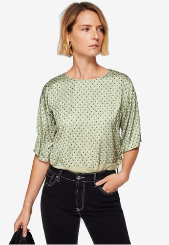 Mango green Contrasting Design T-Shirt 8C7C8AA212162BGS_1