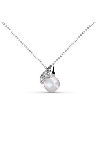 Her Jewellery silver Pearlie Shell Pendant - Kalung Crystal Swarovski by Her Jewellery 17227AC1109AAFGS_1