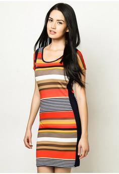 Striped Short Sleeved Dress