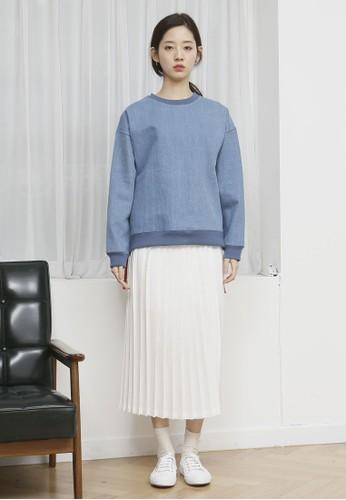 esprit 旺角韓式風格拼色羅紋丹寧長袖衫, 服飾, 外套