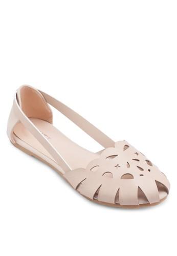 Mila 鏤空平底esprit台北門市鞋, 韓系時尚, 梳妝