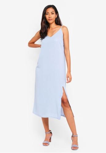 f0f8324a30074 Buy ZALORA BASICS Basic Midi Slip Dress Online | ZALORA Malaysia