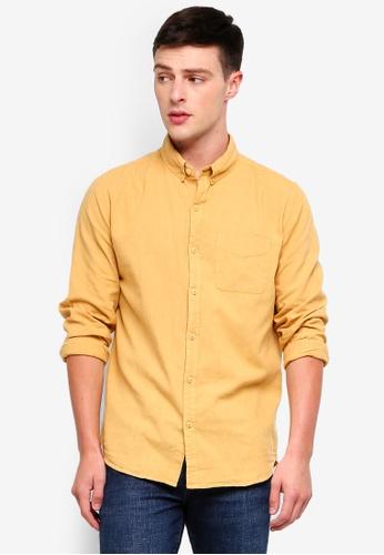 Cotton On 黃色 Premium Linen Cotton Long Sleeve Shirt 7A5A4AACBB1317GS_1