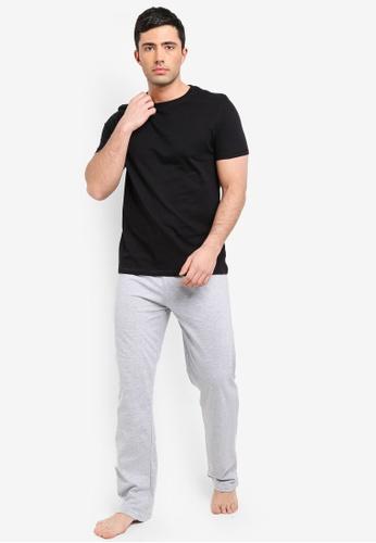 Burton Menswear London 黑色 Basic 短袖睡衣組 F3EFDAA9C296A8GS_1