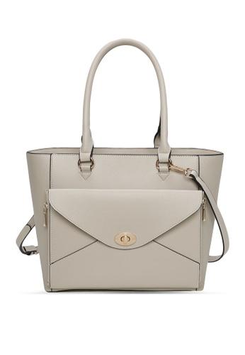 Milliot & Co. 灰色 Aria Tote Bag A5B59AC632C892GS_1