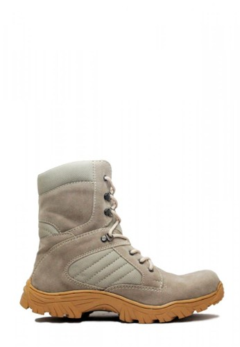 Cut Engineer grey Cut Engineer Zipper Taktical High Safety Boots Iron Leather Grey CU226SH05GKCID_1