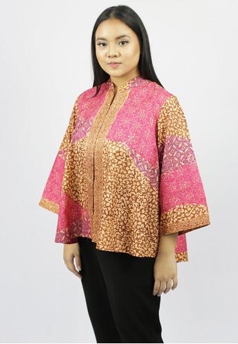 House of Kain pink and gold Blouse Batik Viscose Pelangi 9A768AA24662EDGS_1