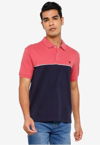 Springfield pink Block Colour Polo Shirt BD7CDAA8C6DBE6GS_1