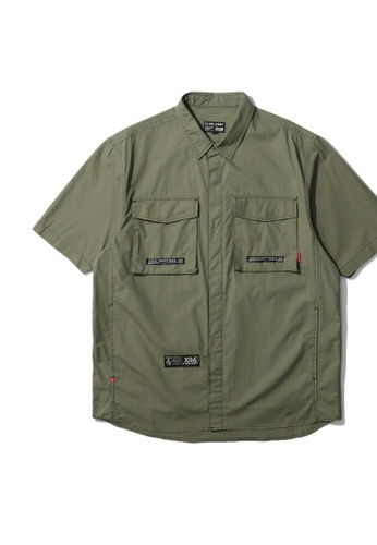 izzue green Army specification worker shirt EDA4DAADCF2750GS_1