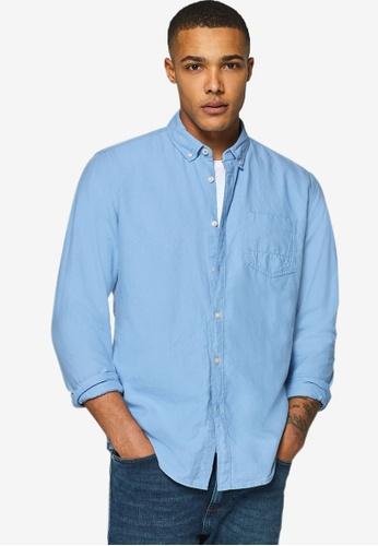 ESPRIT 藍色 長袖襯衫 D538AAA71946CDGS_1