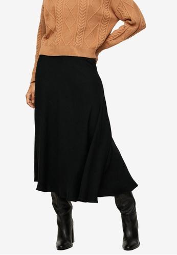 Mango black Fluid Midi Skirt 3F54CAA66E9713GS_1