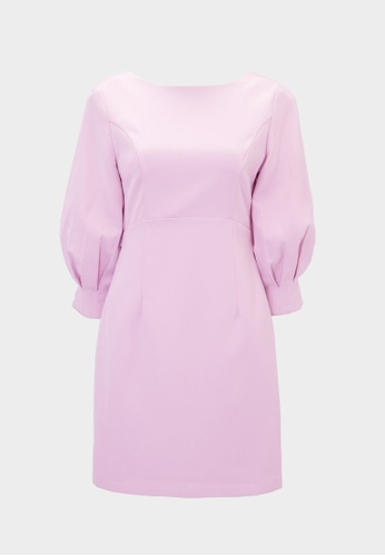 Pomelo purple Puffed Sleeves Low Back Dress - Lilac 81A73AA89712CCGS_1