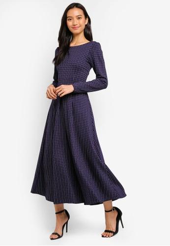 CLOSET navy Closet Pleated Full Skirt Dress A1B04AADED1BCDGS_1