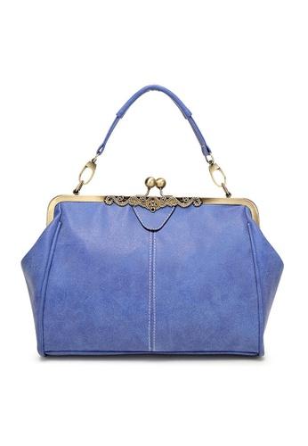 Twenty Eight Shoes blue VANSA Retro Clip Buckle Hand Bag   VBW-Hb4008 6AD2CAC0BDA14EGS_1