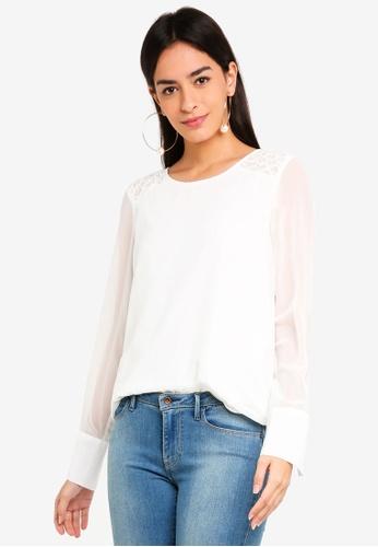 Vero Moda white Julia O-neck Top 8B449AA0EE2861GS_1