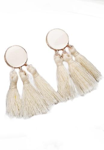 Sunnydaysweety white Tassel Drop Earrings CA030207W 9BA37AC8BA1525GS_1