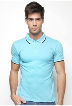 Slim Fit Polo Shirt With Trim Collar And Cuff