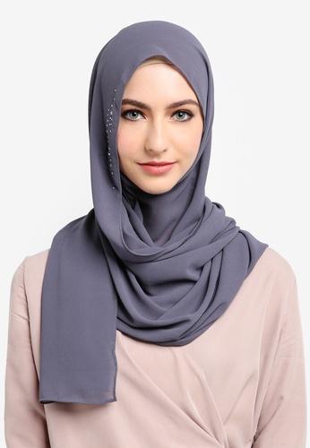 Najjah grey Myra Instant Shawl 7F3ABAA89914CFGS_1