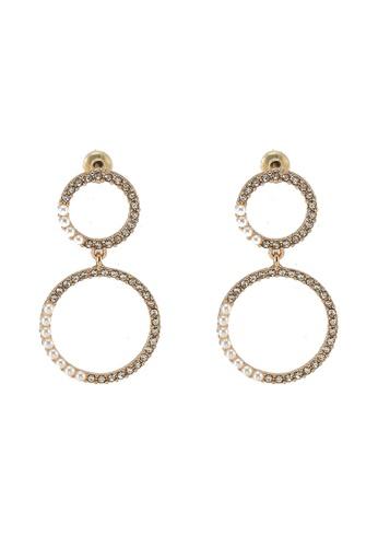 ALDO gold Maskiell Pierced Earrings B561AAC7D5EBF6GS_1
