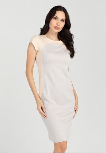 BA&DO grey Consuelo Colorblock Knit Dress 60E3DAAED53672GS_1