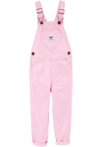 Oshkosh B'gosh pink OSH KOSH Girl Pink Stripe Overall 318B7KA6B1979BGS_1