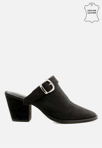 RAG & CO 黑色 粗跟女鞋 D71DFSHCD4A640GS_1