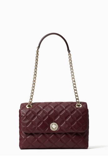Kate Spade red Kate Spade Natalia Medium Quilted Flap Bag - Cherrywood F66FAACC215A60GS_1