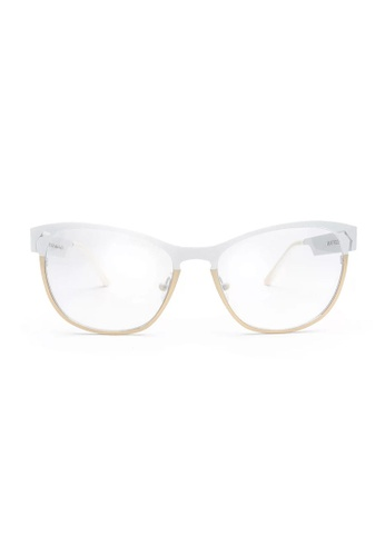 Quattrocento Eyewear Quattrocento Eyewear Mod. Cat Metal with Stainless Steel Frame and CR 39 golden-latte - Lenses 49917GL724D77CGS_1