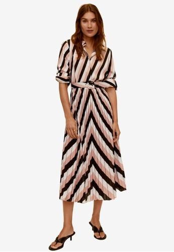 Mango black Geometric Print Midi Dress F8642AA8D830A6GS_1