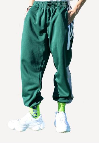 hk-ehunter green Men's Stripe Pants 004DDAA96F315BGS_1