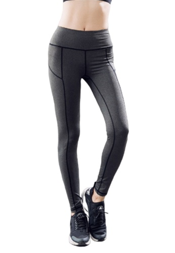 B-Code grey ZYG3026-Lady Quick Drying Running Fitness Yoga Sports Leggings -Grey 26A6EAA3F2A513GS_1