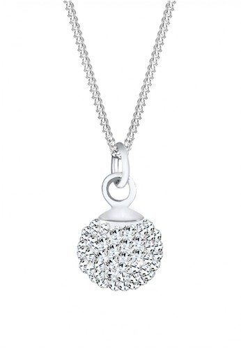 Elli Germany white Perhiasan Wanita Perak Asli - Silver Kalung Crystal Ball EL948AC95SHCID_1