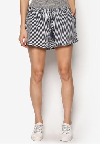 Peta Drapey 彈性腰部抽繩短褲,esprit hk分店 服飾, 短褲