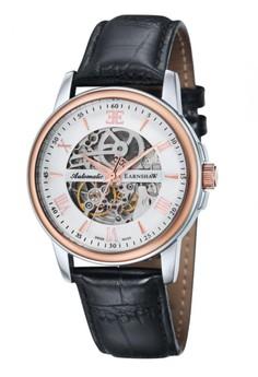 Thomas Earnshaw Beagle Es-0014-01 Men's Genuine Leather Strap Watch