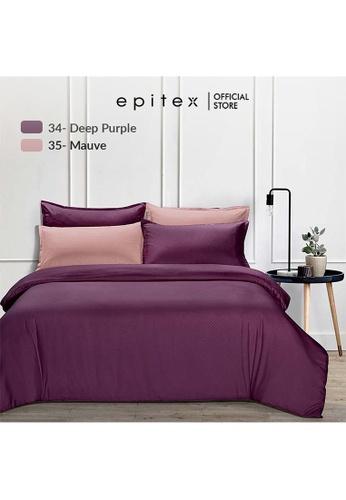 Epitex pink Epitex 900TC Silkysoft Bedsheet - Bedsheets - Bedset - Fitted Sheet Set - Bedding Set - Mauve (w/o quilt cover) 42991HL0E7CDE6GS_1
