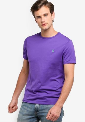 Polo Ralph Lauren 紫色 Short 袖 圓領修身T-襯衫 AEC2CAAB57E2ECGS_1
