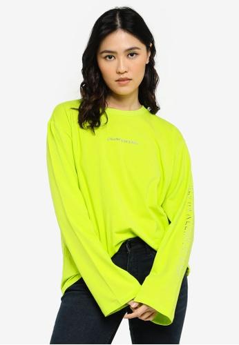 CALVIN KLEIN green Shadow Logo Tee - CK Jeans 0FE09AA2A00D76GS_1