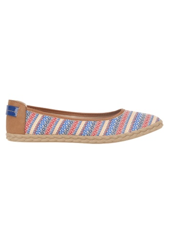 Beira Rio blue and multi Stripe Design Multi Colored Casual Slip On BE995SH71ESUHK_1