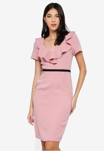 Paper Dolls pink Pink Ruffle Dress E921AAAA86A6A5GS_1